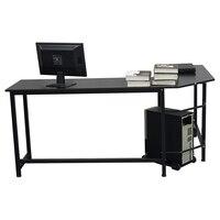 【US Warehouse】L Shaped Desktop Computer Desk Black(Computer Desk Table) Laptop Desks Furniture -