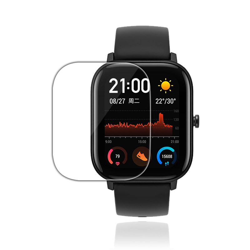 1*2*3pcs Tempered Glass For Xiaomi Huami Amazfit GTS Smart Watch Screen Protector Soft TPU HD Screen Protector Film TSLM1