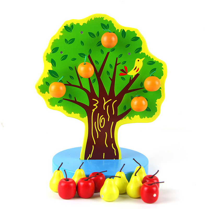 Montessori Puzzle Toys 3D Cognitive Strawberry Grasping Ability Wooden Toy Early Educational Puzzle Catch Worm Game Baby Toys 16