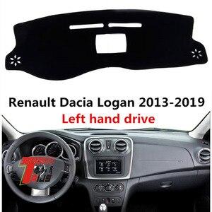Крышка приборной панели автомобиля TAIJS для Renault Dacia Logan 2013-2019, пылезащитный коврик для приборной панели автомобиля Logan