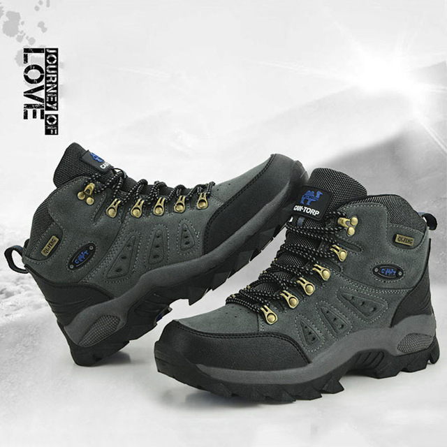 Outdoor Waterproof Hiking Boots Men Women Winter Shoes Walking Climbing Hiking Shoes Mountain Sport Boots Hunting Mens Sneakers 2