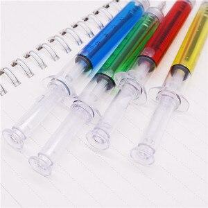 Image 3 - Stylo à bille seringue étrange, 0.7MM, 50 pièces, pointe dencre bleue, cadeau pour enfants et Promotion scolaire