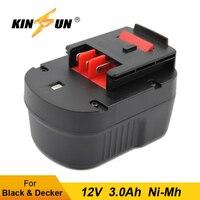 Kinsun substituição bateria ferramenta elétrica 12 v 3.0ah ni mh para black & decker sem fio broca chave de fenda a12 A12 XJ a12ex bd12psk|Pacotes de bateria| |  -
