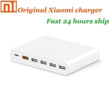 الأصلي شاومي USB شاحن 60 واط لوحة الهاتف الذكي شحن الناتج 1 نوع C 6 ميناء 5 USB A المزدوج QC 3.0 شحن سريع 18 واط x2 محول