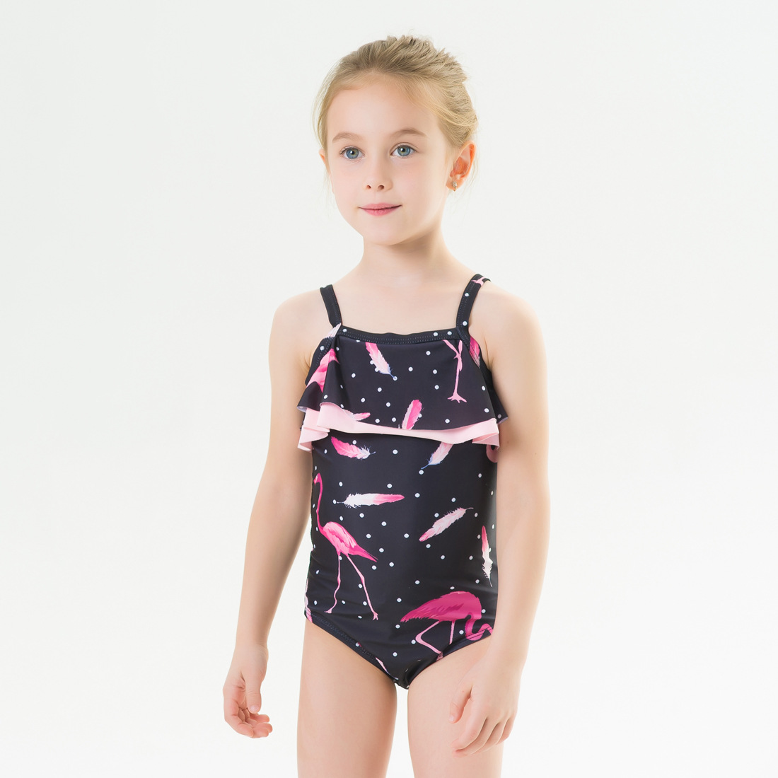 2020 New Style Hot Selling Europe And America GIRL'S Swimsuit One-piece Flamingo Elasticity Quick-Dry Hot Springs Swimming Pool