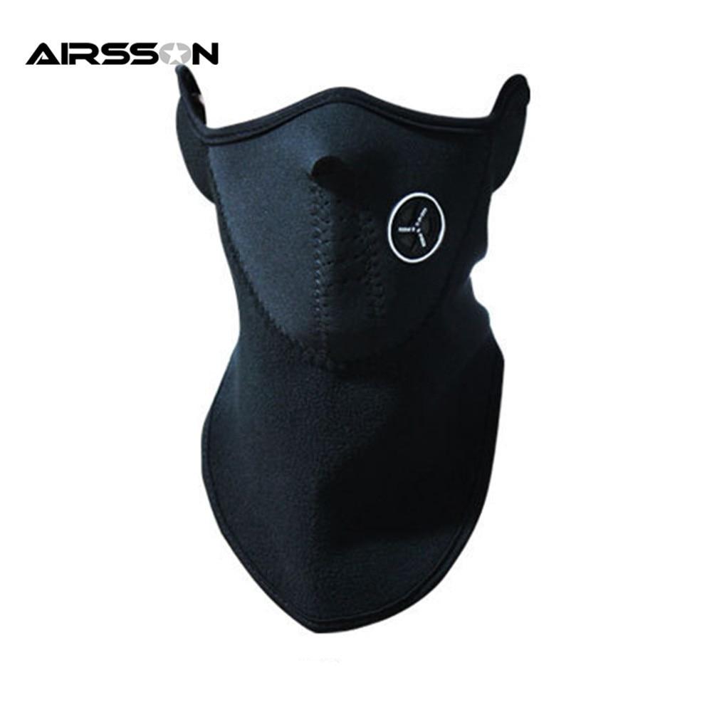 Airsoft теплый флис велосипед половина лица маски для лица капюшон Защита Велоспорт лыжный спорт на открытом воздухе зима шеи Защита шарф тепл...