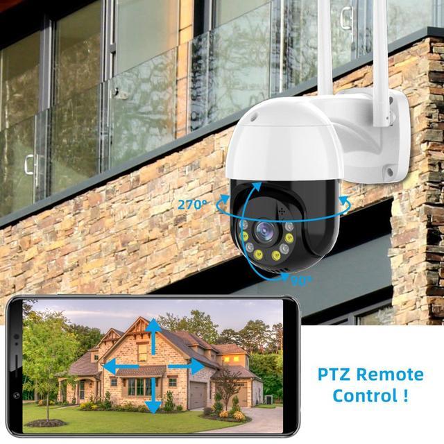 3MP PTZ WIFI IP Camera Outdoor 4X Digital Zoom Night Full Color Wireless H.265 P2P Security CCTV Camera Two Way Speak Audio 2