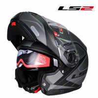 Original LS2 FF325 abatible hacia arriba moto rcycle casco Modular moto rbiket kask con doble dual lente de capacete ls2 cascos para moto