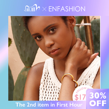 ENFASHION Heart Cuff Bangles For Women Accessories Gold Color Brass Bracelets Fashion Jewelry Friends Gifts 2020 Pulseira BC2006