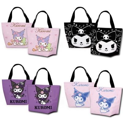 Bolsas dos Desenhos Bolsa de Armazenamento Pces Kuromi Melodia Moda Personalizado Almoço Animados Quente Portátil Meninas Unisex 1