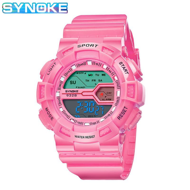 SYNOKE Brand Children Girl Digital Watch Waterproof Alarm Date Kids Clock Outdoor Sport Watch For Kids Reloj Deportivo 2019