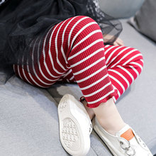 Spring Summer Kids Girls Pants Cotton Striped Pants Clothes Toddlers Children Girls Pencil Trousers Skinny Leggings girls jeans 2018 cartoon cat plus size baby girls pants slim skinny kids leggings cotton casual children girls clothes 2507b
