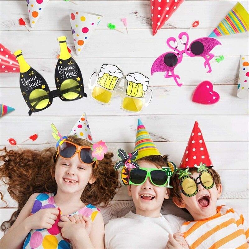 Gafas de sol de fiesta hawaiana, divertidas gafas hawaianas Tropical, elegantes vestidos de fiesta de verano, suministros de utilería para cabina de fotos ADEWEL, traje sin espalda de encaje negro para mujer, body sexy transparente, peleles 2020, traje de gato para fiesta, monos ajustados