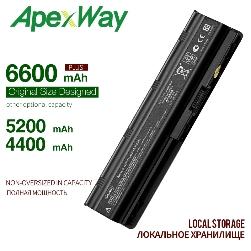 6cells Mu06 Black Laptop Battery For HP Notebook PC 593553-001 For Pavilion G4 G6 G7 G32 Cq42 593562-001 Dv4 Dv6 MU09 HSTNN-LB0W
