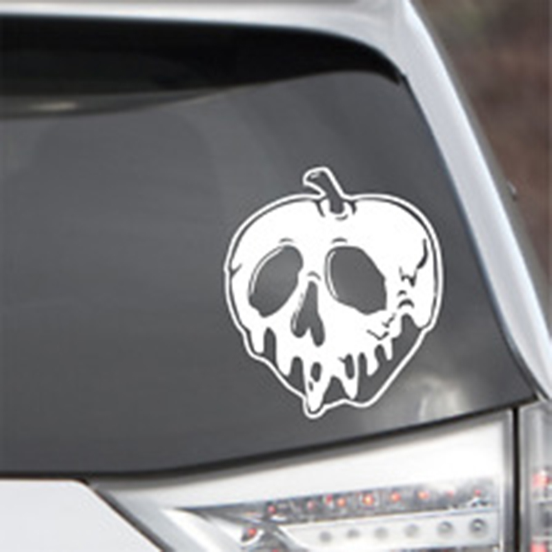 15*13cm Poison Apple Snow White Vinyl Decal Sticker Car Laptop New Car Styling Handsome And Cool Sticker