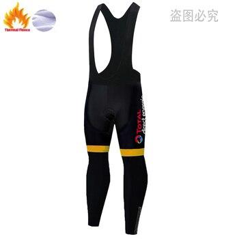 Energie-Pantalones largos de ciclismo para hombre, ropa térmica de lana con almohadilla...