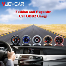 V10 Auto Hud Head Up Display OBD2 Smart Gauge Boordcomputer Digitale Meter Overspeed Waarschuwing 6 Interface Obd scanner