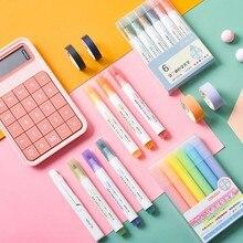 Marqueurs à surbrillance fluorescents, stylo de dessin Pastel pour étudiants, fournitures scolaires et de bureau, papeterie mignonne