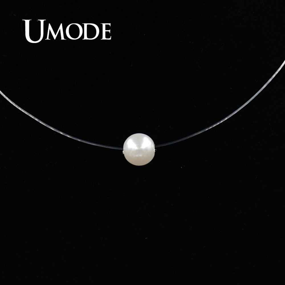 UMODE nueva sirena collar en forma de lágrima meteorito colgante transparente línea de pesca Invisible de las mujeres collar de la joyería clavícula UN0362C