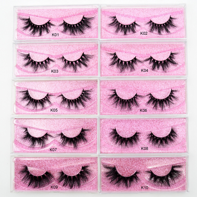 Visofree 5D Mink Eyelashes Long Lasting Mink Lashes Natural Dramatic Volume Eyelashes Extension Thick Long 3D False Eyelashes 1