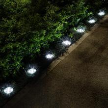 8Pcs Solar Power Buried Stair Light Under Ground Lamp Outdoor Path Way Garden Decorations Floor Lawn Lamp Waterproof Footlight