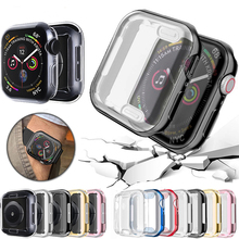 360 Slim Watch Cover for Apple Case 5 4 3 2 1 40MM 38MM Soft Clear TPU Screen Protector iWatch 44MM
