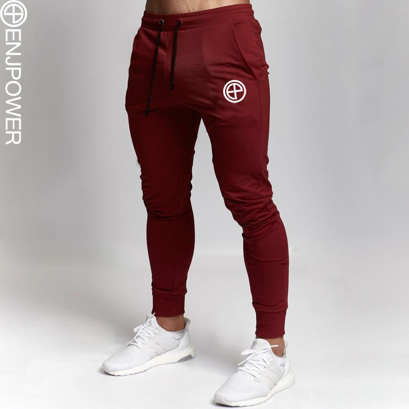 2019 Athletic Pants Men's Running Trousers Fitness Football Training Pants Europe And America Slim Fit Casual Athletic Pants Ski