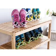 2 шт./компл. балкон сушки пластика стойка для обуви Многофункциональный Для детей обувь подвесная сумка для хранения WardrobStorage шкаф для органайзера
