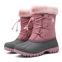 Winter Kids Boots Girls Boots Outdoor Fur Boots Children Boots Boys Platform Shoes Fashion Mid Calf Booties Girls Winter Shoes