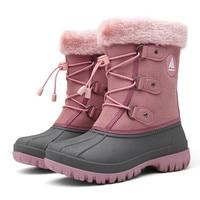 Winter Kids Boots Girls Boots Outdoor Fur Boots Children Boots Boys Platform Shoes Fashion Mid Calf Booties Girls Winter Shoes
