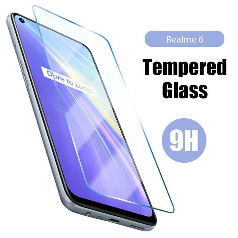 Закаленное стекло для экрана пленка для Realmi 5 6 Pro 5i 6i 5S 6S безопасная защита экрана для Realmi 1 2 3 Pro 3i защитная пленка