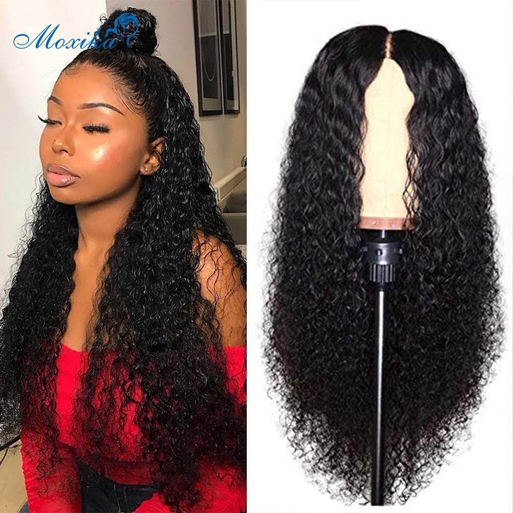 Water Wave Lace Front Wigs Pre Plucked 150% Density Peruvian Wave Curly Lace Front Human Hair Wigs 13*4 Remy Hair Wigs Moxika