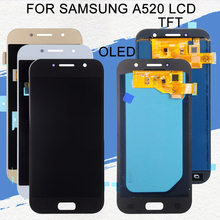 Dinamico OLED A520 Lcd For Samsung Galaxy A5 2017 Display SM-A520 A520F Lcd Display Touch Screen Digitizer Assembly Free Ship super amoled a520 lcd for samsung galaxy a5 2017 a520f a520f ds a520k sm a520f display touch screen digitizer assembly lcd parts