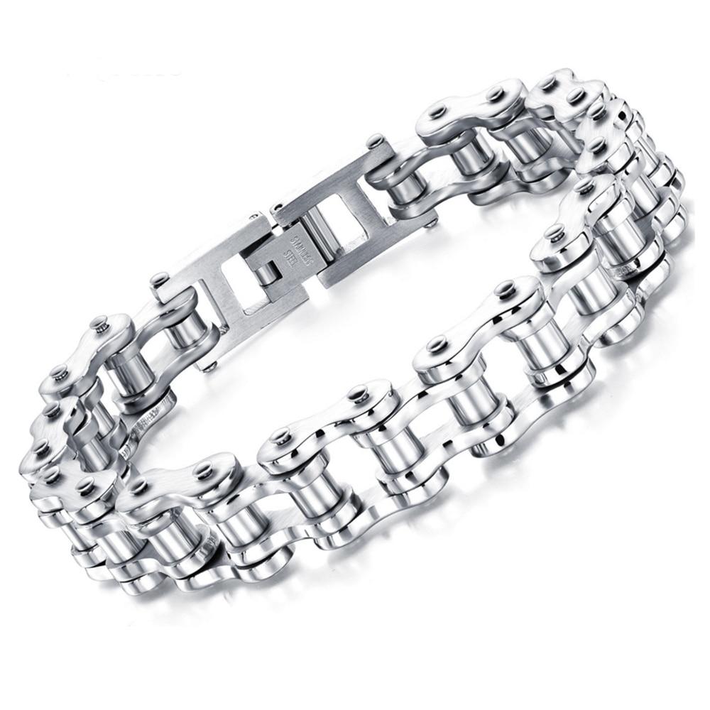 PUNK-Biker-316L-STAINLESS-Steel-Mens-Bracelet-Fashion-Jewelry-Bike-Bicycle-Chain-Bracelet-bangle-Jewellery-Wolesale