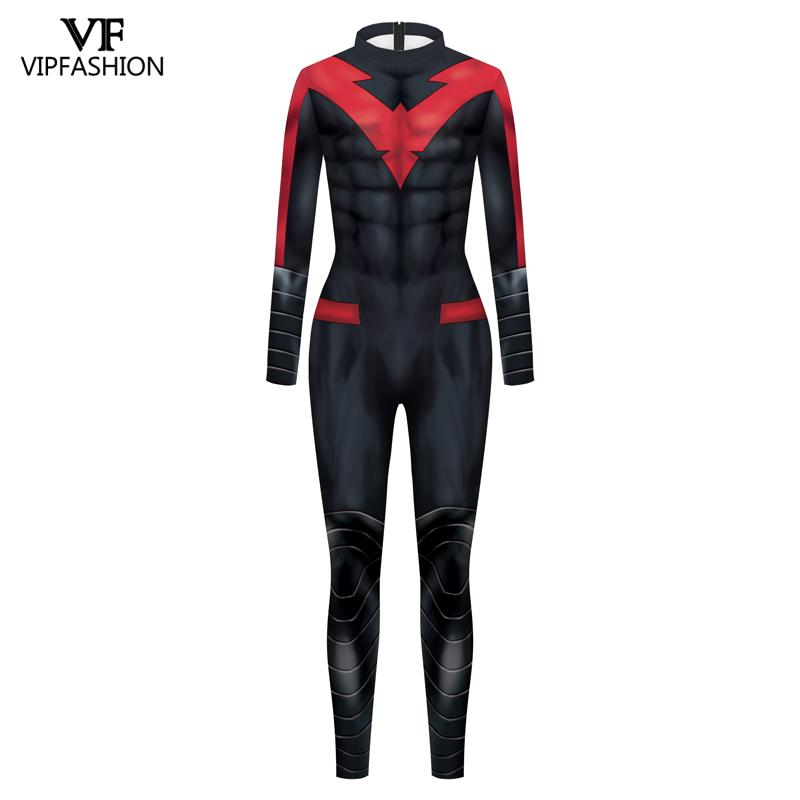 Image 5 - VIP FASHION New DC Comic Batman Nightwing Cosplay Costume  Superhero Anime Zentai Suit Bodysuit Halloween Costume For MalesMovie & TV costumes   -