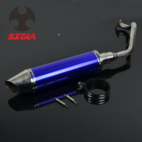 Motorcycle Rear <font><b>Exhaust</b></font> Pipe Muffler Silencer Clamp <font><b>System</b></font> For Honda GY6 125 <font><b>150CC</b></font> Motor bike image