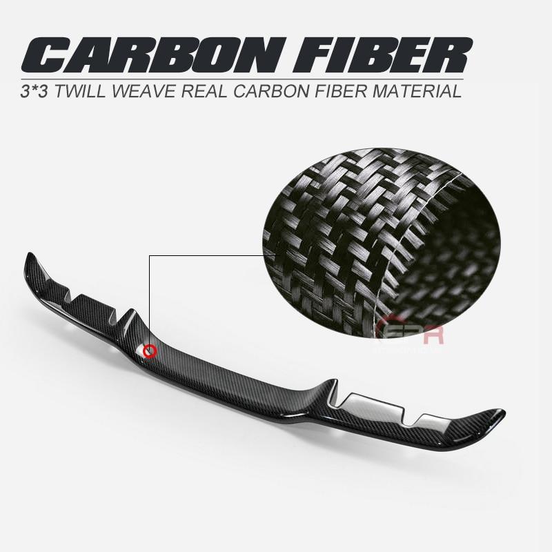 Garniture arrière en Fiber de carbone de Style BLZ finition brillante garniture de séparateur de pare-chocs Kit de dérive de diffuseur de Fiber adapté pour Honda 2017 sur Civic FK8