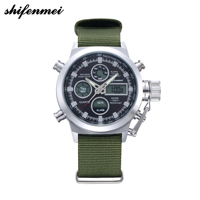 top Fashion 2019 Gemius Army Racing Force Military Sport Mens Fabric Band Watch New Luxury High Quality Clock Retro Design