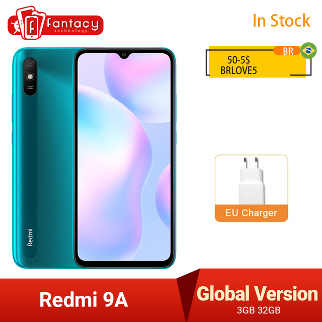 New Global Version Xiaomi Redmi 9A 9 A Smartphone 2GB 32GB MTK Helio G25 Octa Core 6.53 inch 5000mAh 13MP Camera Mobile Phones 1