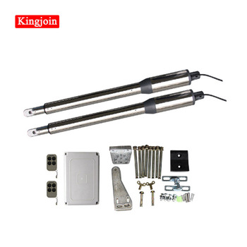 KINGJOIN 300kgs Engine Motor System Automatic Swing Gate Opener Newest wifi control AC220V Electric Linear Actuator galo 200kgs engine motor system automatic door ac220v ac110v swing gate driver actuator perfect suit gates opener