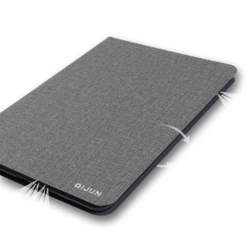 Untuk Samsung Galaxy Tab 10.1 Inci 2019 T510 Qijun Case untuk Galaxy SM-T510 T515 10.1 ''Case Slim Flip cover Lembut Pelindung Shel