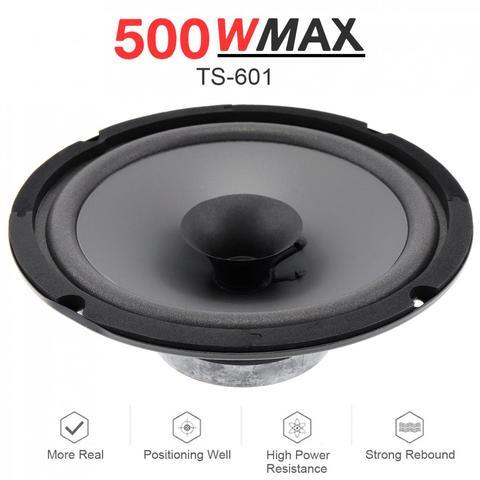 alto falante universal automotivo 1 peca 6 polegada w 500w hifi coaxial porta veiculo audio
