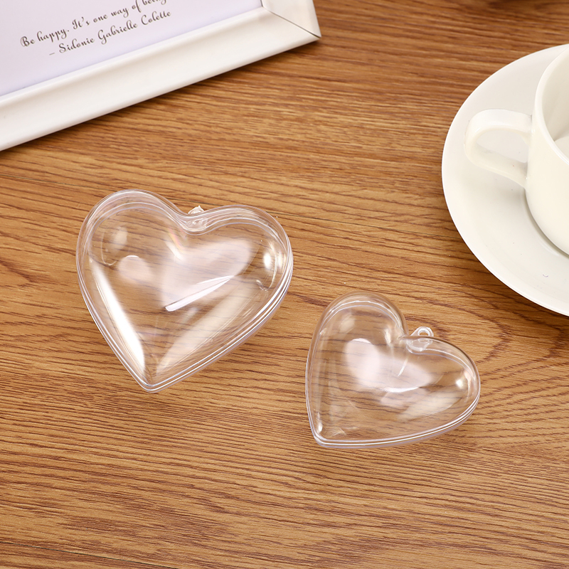1/2Set 65/80mm Bath Bomb Mold Heart Shape DIY Clear Plastic Bath Bomb Mould Acrylic Mold Bath Accessories For Chrisemas Xmas