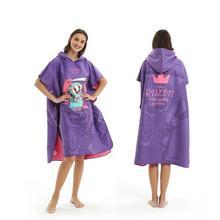 Новая мода быстрая сушка микрофибры Печать пеленания халат банное полотенце открытый с капюшоном пляжное пончо полотенце s купальный костюм плащ