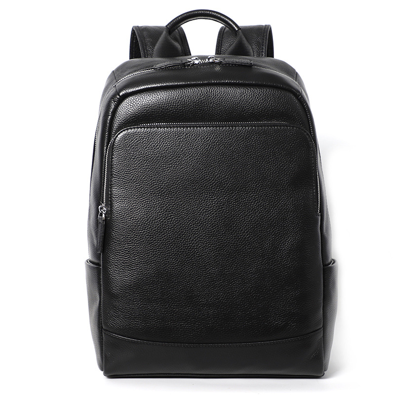 Genuine Leather Backpack Women Laptop Mens High Quality Leather Backpack Male Travel Business Backpack Laptop Anti Theft