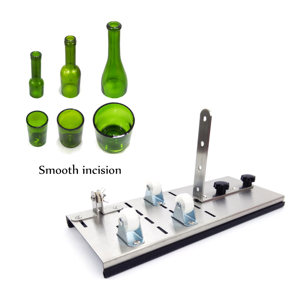 2019 New DIY Glass Bottle Cutter 5-Wheel Cutting Thickness 2-12mm Stainless Steel Cutting Control Create Glass Sculptures