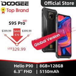 IP68/IP69K DOOGEE S95 Pro Helio P90 Octa Core 8GB 128GB modułowe wytrzymały telefon komórkowy 6.3 cal wyświetlacz 5150mAh 48MP Cam Android 9
