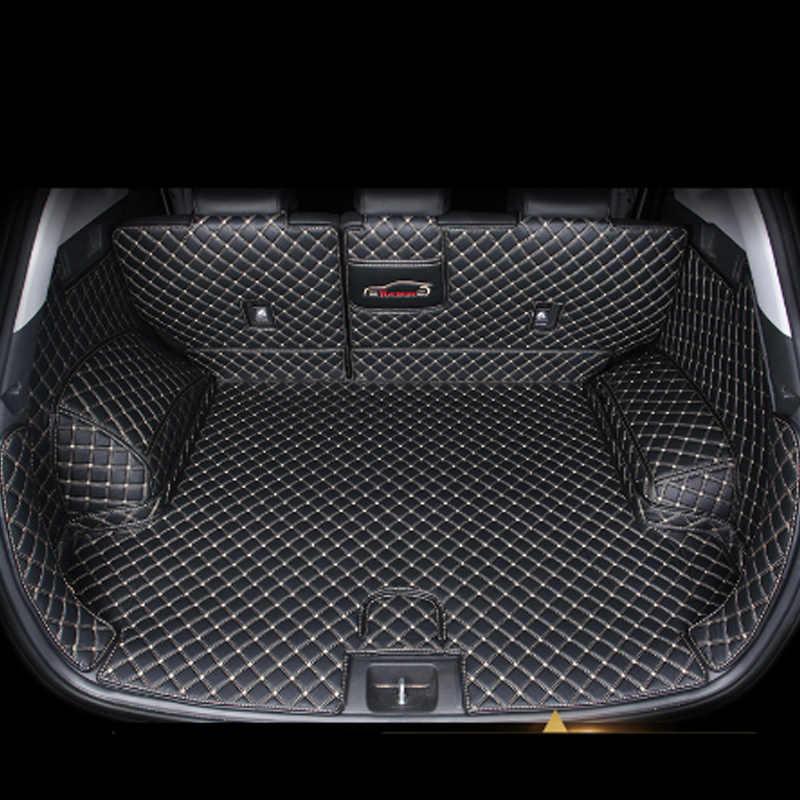 tapis de coffre de voiture en cuir pour hyundai tucson 2019 2020 suv accessoires de doublure de cargaison botte interieure