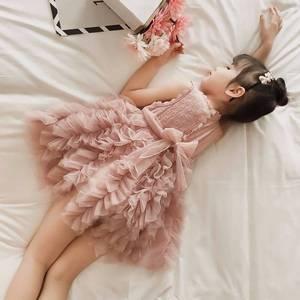 Платья для девочек, летнее платье для девочек 2020, кружевное дизайнерское платье-пачка для маленьких девочек, детские платья для девочек, пов...