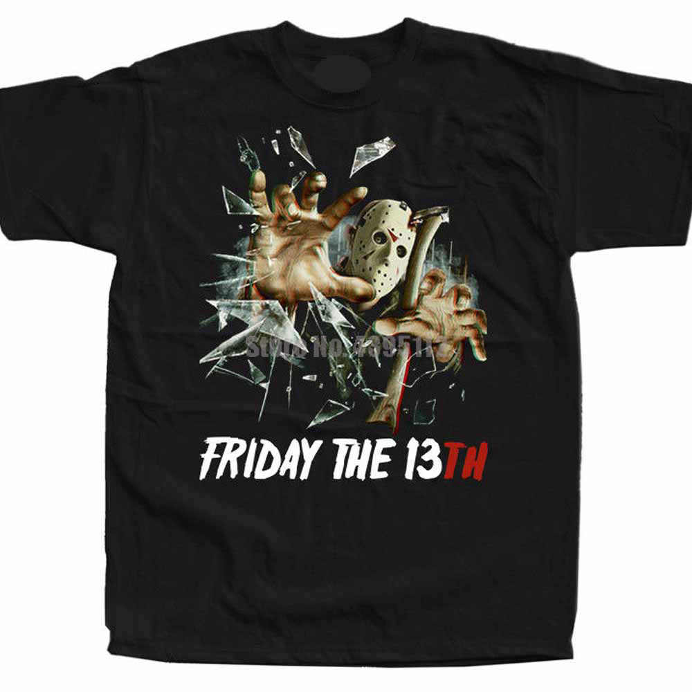 Мужская футболка в стиле хип-хоп Friday The 13Th Movie Poster, летняя футболка в стиле Харадзюку, одежда Mardi Gras Rylydr